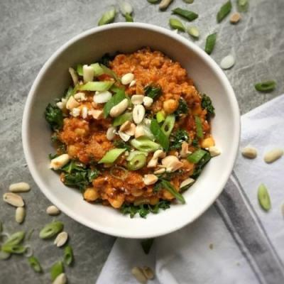 Sweet Potato Peanut Butter Dhal