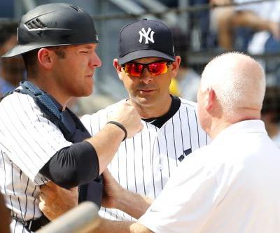 Yankees hopeful Austin Romine is OK after taking foul to head