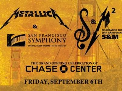 METALLICA To Reunite With SAN FRANCISCO SYMPHONY To Open Chase Center In San Francisco