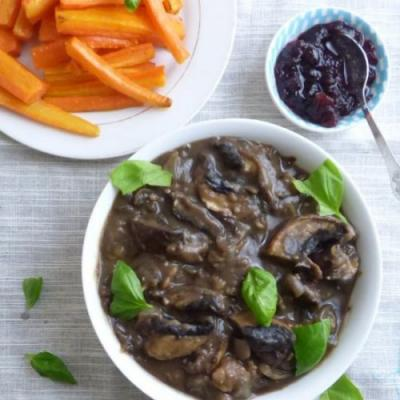 Vegan Mushroom and Chestnut Sauce