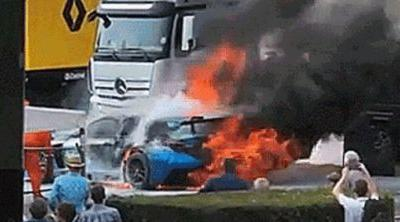 Goodwood Shows No Mercy, Sends Lexus RC F GT3 Up In Flames