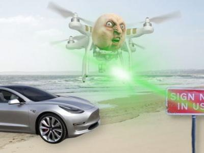 Tesla's Autopilot dangerously fooled by drone-mounted projectors