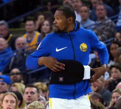 Warriors star Kevin Durant out at least two weeks with rib fracture
