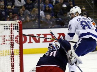 Kucherov has 5 points as Lightning beat Blue Jackets 5-1