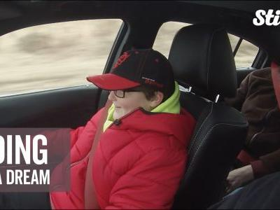 Nine-year-old gearhead gets to ride in car of his dreams