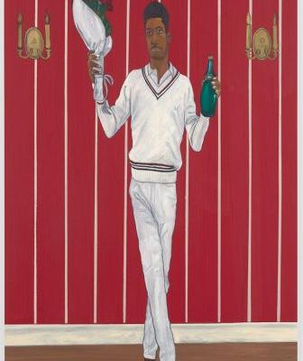 Honor Titus' paintings celebrate the elegant pageantry of athletics