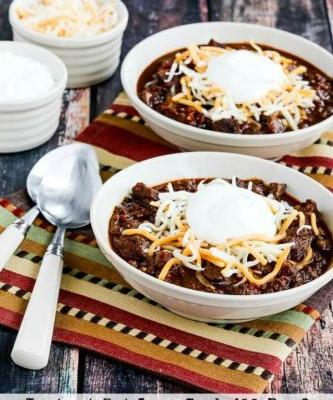 Instant Pot Low-Carb All-Beef Ancho and Anaheim Chili