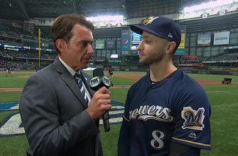 Ryan Braun sings the praises of the Brewers' bullpen after they rack up 21 outs in Game 1