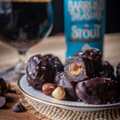 Chocolate Stout Covered Dates Stuff