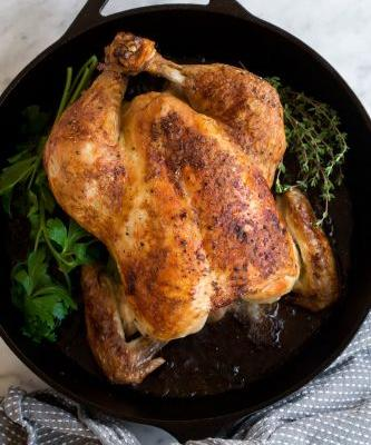 Roast Chicken {and Homemade Chicken Gravy}