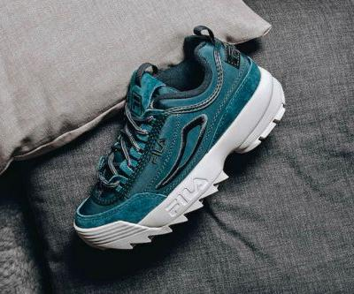 "FILA's Disruptor Satin Low Takes a Dip in ""Atlantic Deep"""