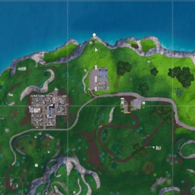 Fortnite: Visit the furthest North, South, East, and West points of the island