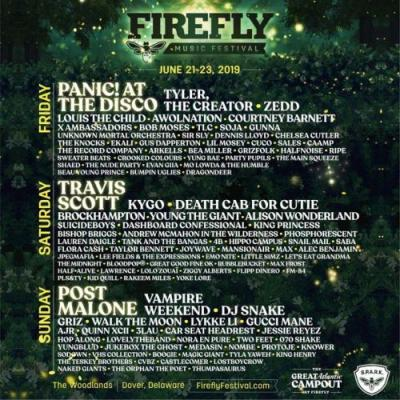Here's the 2019 lineup for Firefly Music Festival