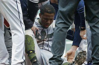 Acuna injured in a tumble, Braves beat Red Sox 7-1