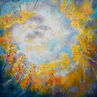 "New ""Fibonacci's Dream"" Abstract Aspen Painting by Niki Gulley"