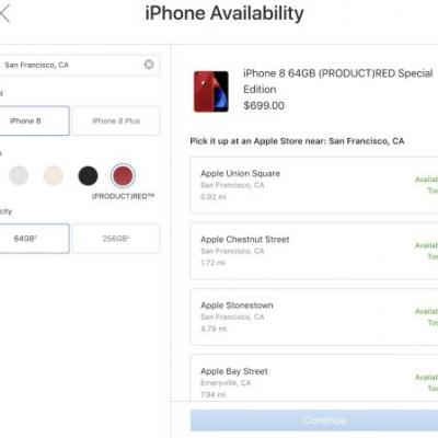 RED iPhone 8 and iPhone 8 Plus Now Available for In-Store Pickup at Apple Retail Stores
