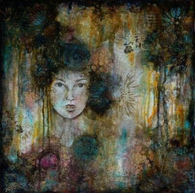 """""""Beauty in the Brokenness"""", Original Mixed Media Painting by Colorado Artist, Donna L. Martin"""