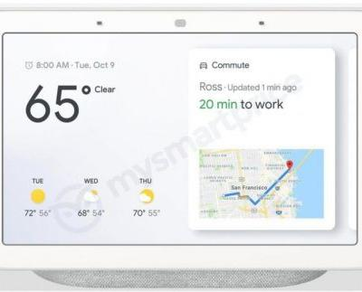 This is the Google Home Hub that'll launch with the Pixel 3 in October