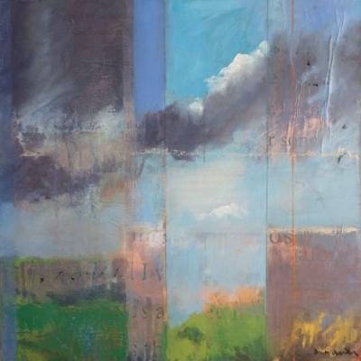 'high desert song, i' abstract new mexico landscape by santa fe artist dawn chandler