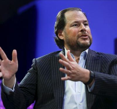 Marc Benioff says that coronavirus won't have a major impact on Salesforce's business because the company was built to withstand recessions and downturns