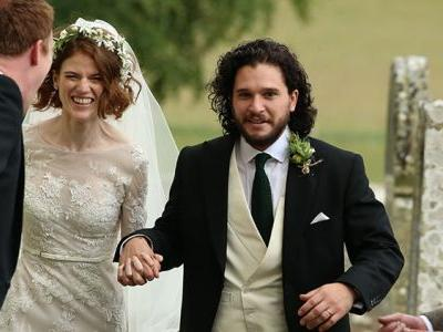 'Game of Thrones' Stars Kit Harington and Rose Leslie Are Married - See Pics from Their Wedding!
