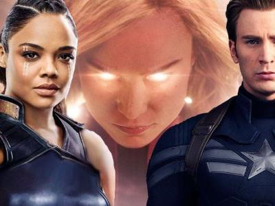 Chris Evans, Tessa Thompson & More React To Captain Marvel Movie Trailer