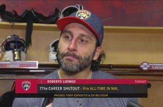 Roberto Luongo says 1st period pace by Panthers set the tone for the rest of the game