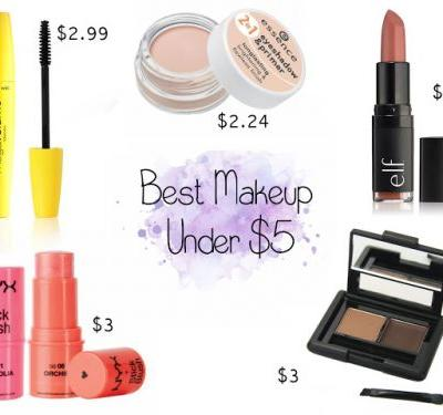 Five Best Makeup Products Under $5