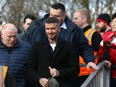 David Beckham watches first Salford City game as co-owner