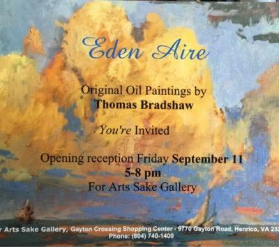 """Eden Aire"" exhibit plus wine country. This weekend!"