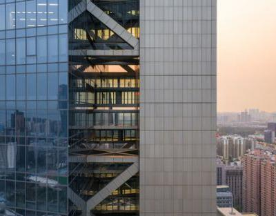 Morphosis' Hanking Centre is the World's Tallest Detached-Core Tower