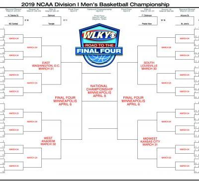 Download your 2019 NCAA tournament bracket!