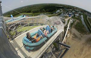 Former water park executive charged in Kansas slide death