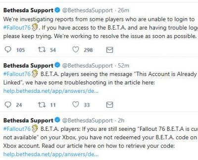 Fallout 76 B.E.T.A. already uncovering some issues
