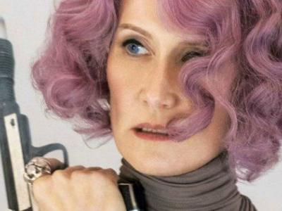 Laura Dern Says 'Pew!' When Shooting Her Blaster in Last Jedi