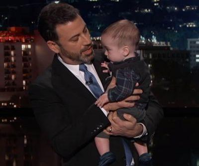 Emotional Jimmy Kimmel brings baby son on 'Live,' pleads for healthcare reform