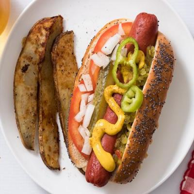 Faux Chicago-Style Hot Dog