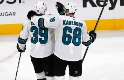 Couture's hat trick gives Sharks series lead over Avalanche