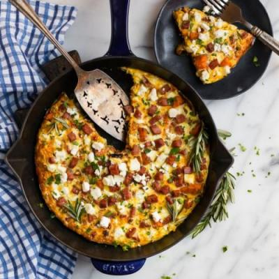 Ham Sweet Potato Frittata