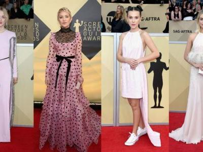 There Was a Lot of Pretty, Pretty Pink on the 2018 SAG Awards Red Carpet