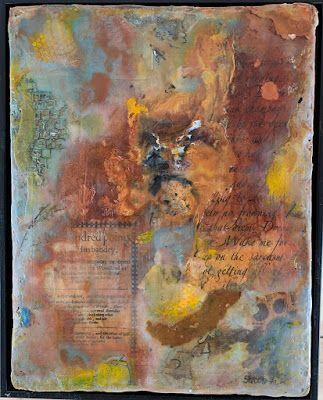 """Encaustic Abstract Art, Mixed Media, Contemporary Painting, """"DIEM"""" by Texas Contemporary Artist Sharon Whisnand"""