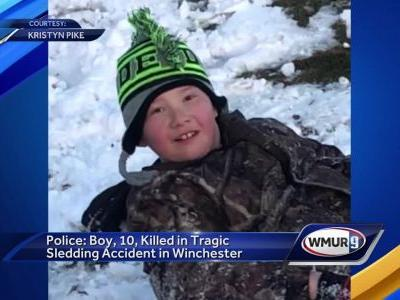 Town mourns loss of 10-year-old in sledding accident
