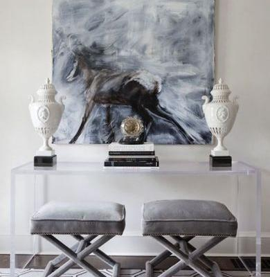 49 Inspirational Console Table with Stools Underneath Images