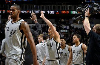 Aldridge, Ginobili rescue Spurs against Celtics, 105-102