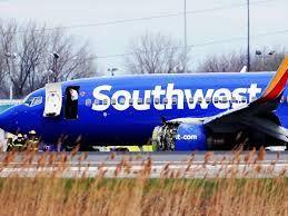Southwest Airlines plane lands safely with cracked windshield