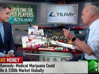 "Canadian cannabis producer Tilray is going bananas after its CEO appears on Cramer's ""Mad Money"""