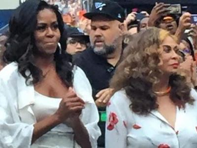 Michelle Obama steals the show at Beyonce-Jay Z concert in Paris