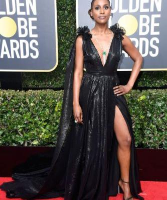 Some of the Chicest Black Dresses from the Golden Globes Could Soon Be Yours