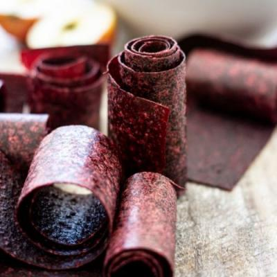 Apple and Berry Fruit Leather