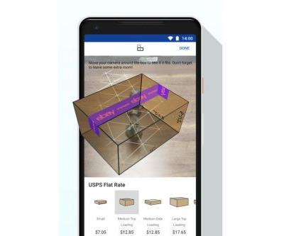 EBay's Android app has a new AR feature to help you pick the correct box size for shipping